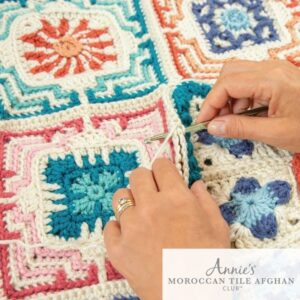 Annie's Moroccan Tile afghan squares